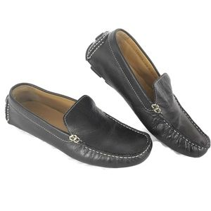 CH Driving Loafer Women 7.5 M Black Leather Flats